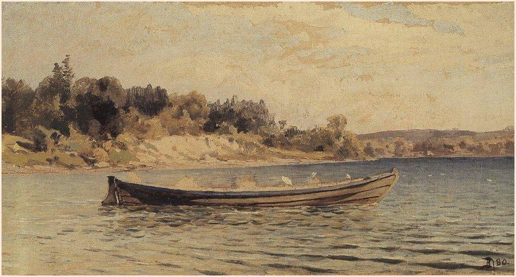 Лодка картина