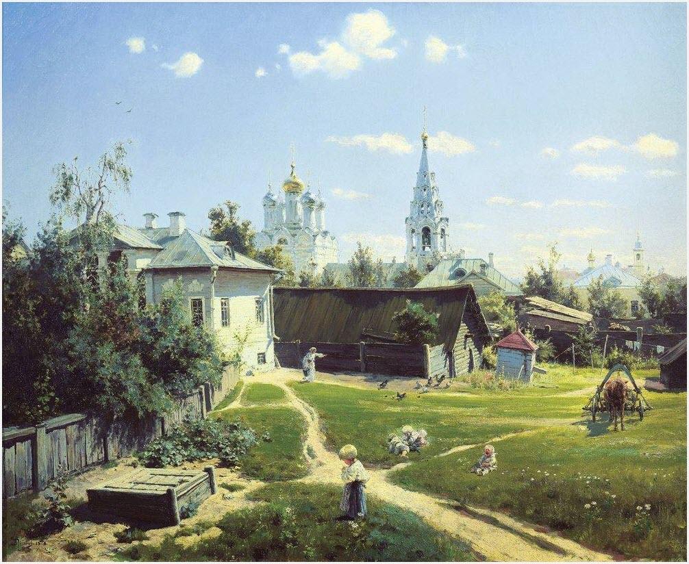 Московский дворик картина