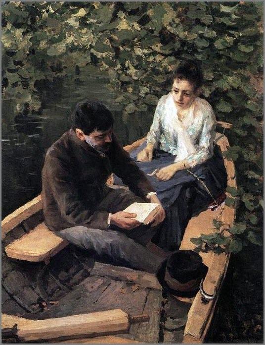 В лодке картина