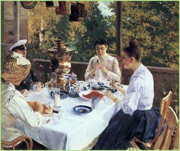 За чайным столом
