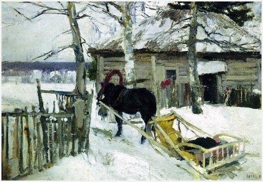 Зимой картина