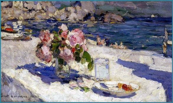 На берегу моря картина