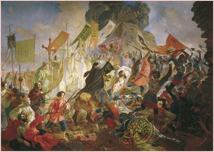 Осада Пскова картина