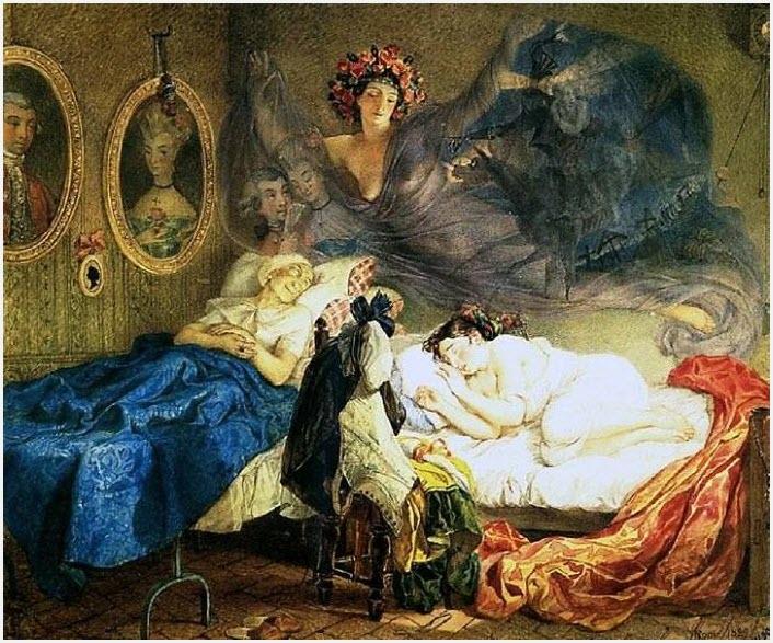 Сон бабушки и внучки картина