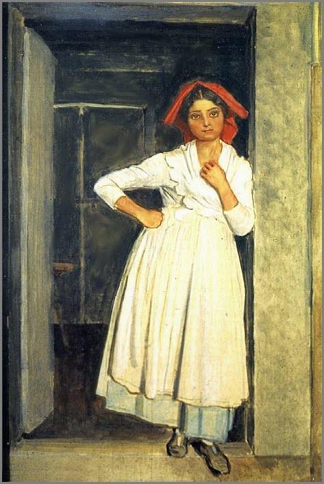 Девушка в дверях