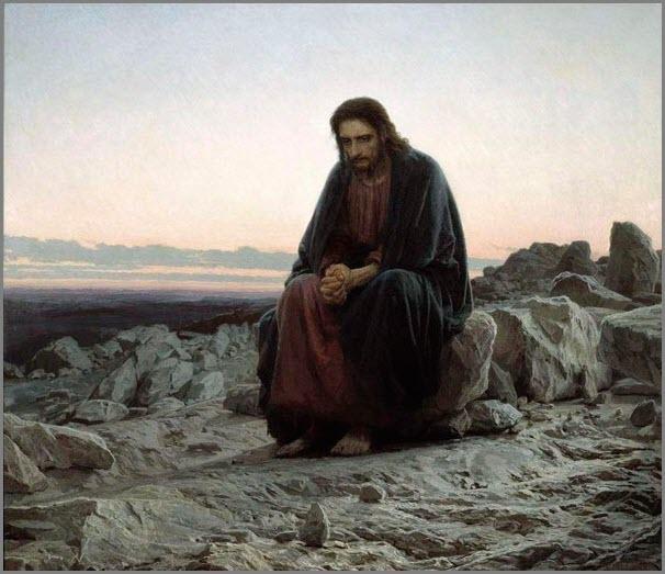 Христос в пустыне картина