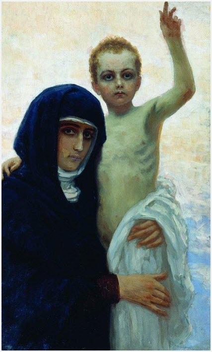 Богоматерь с младенцем картина