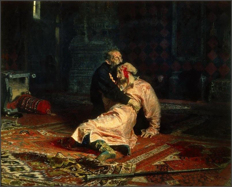 Иван Грозный и сын его Иван картина