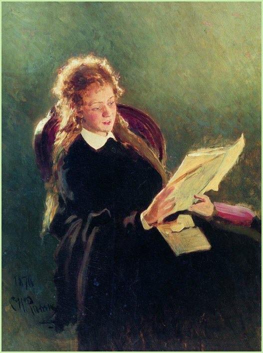Читающая девушка картина