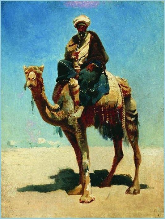 Араб на верблюде картина