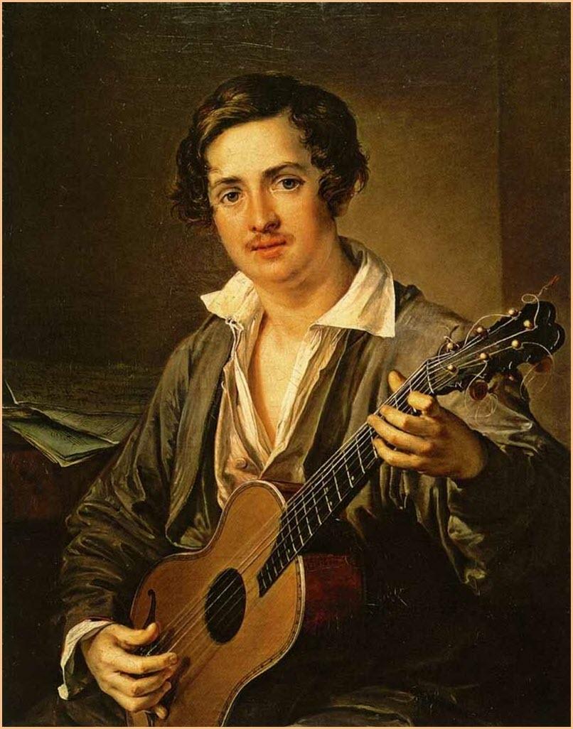 Гитарист картина