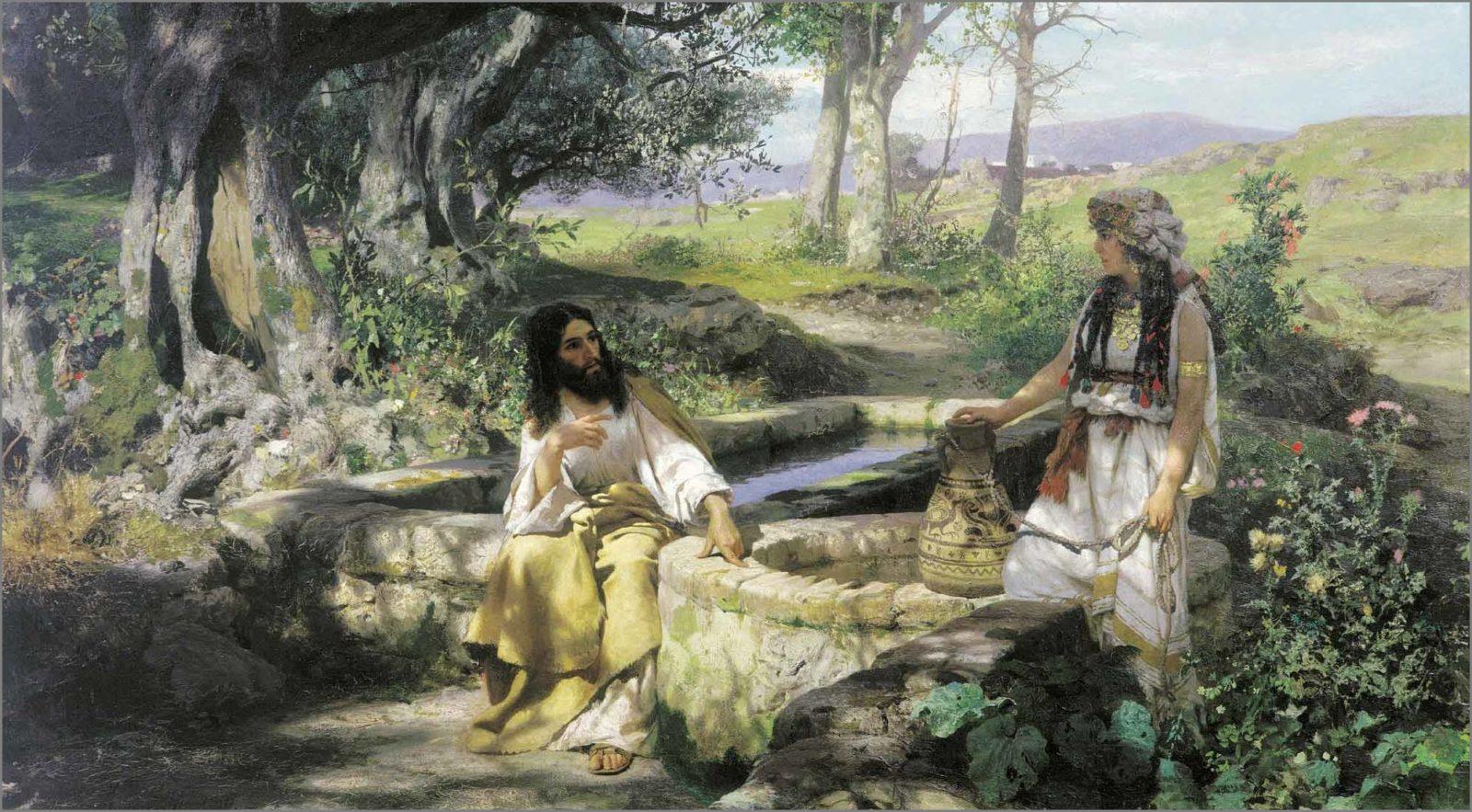 христос и самарянка картина