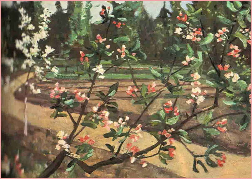цветущая яблоня картина