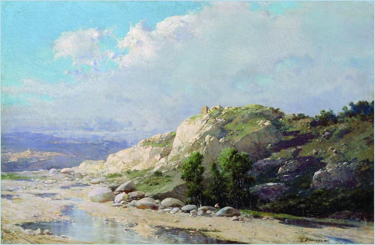 Горный пейзаж картина