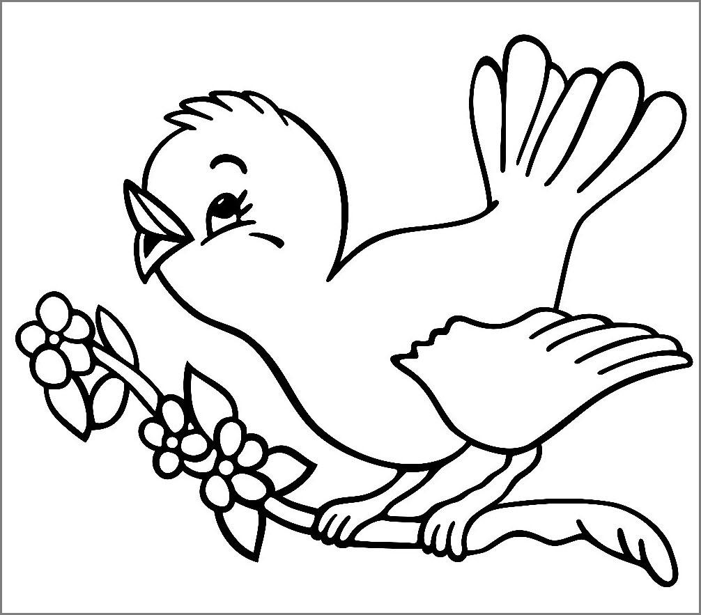 Птица для раскрашивания