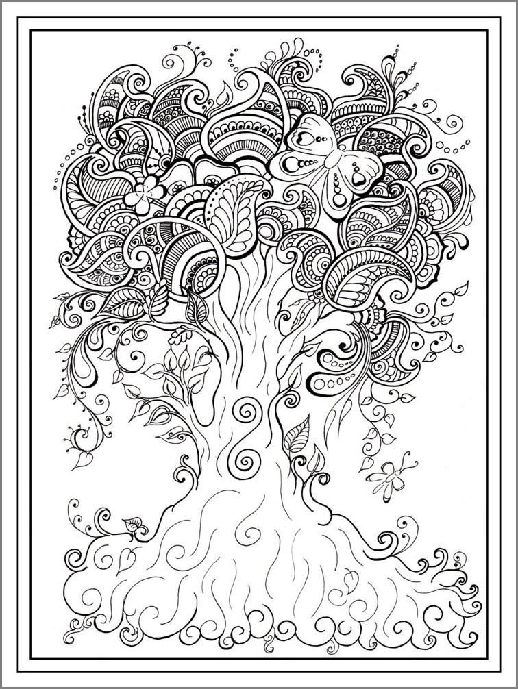 Раскраска дерево