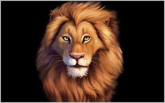 Лев на аву