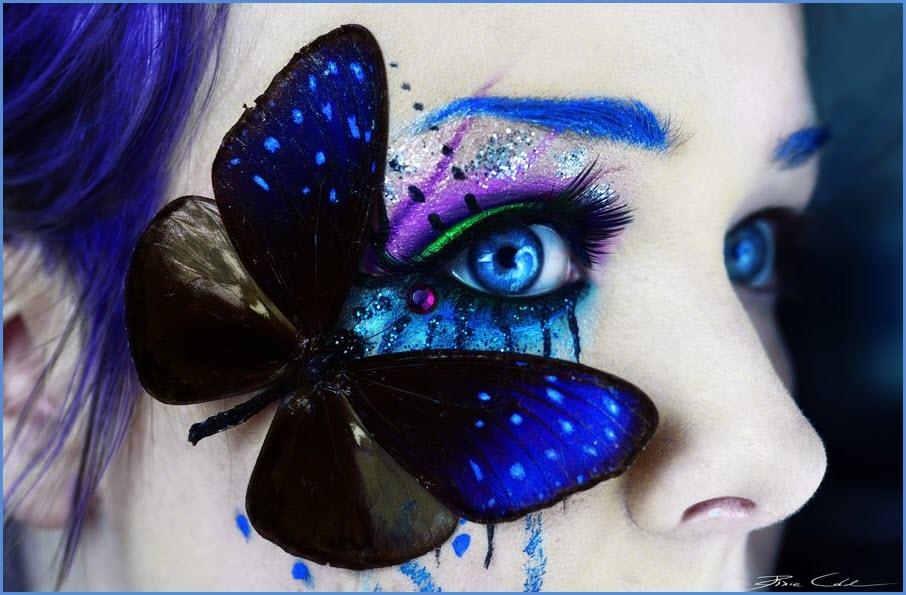 Бабочка на лице