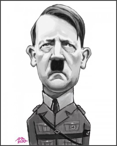 Шарж на Гитлера