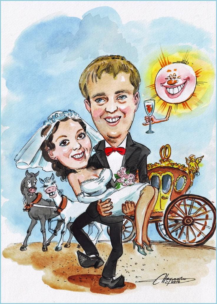 Шарж на свадьбу 3