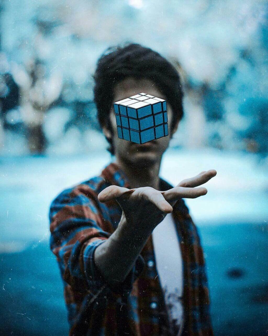 На аву без лица с кубиком