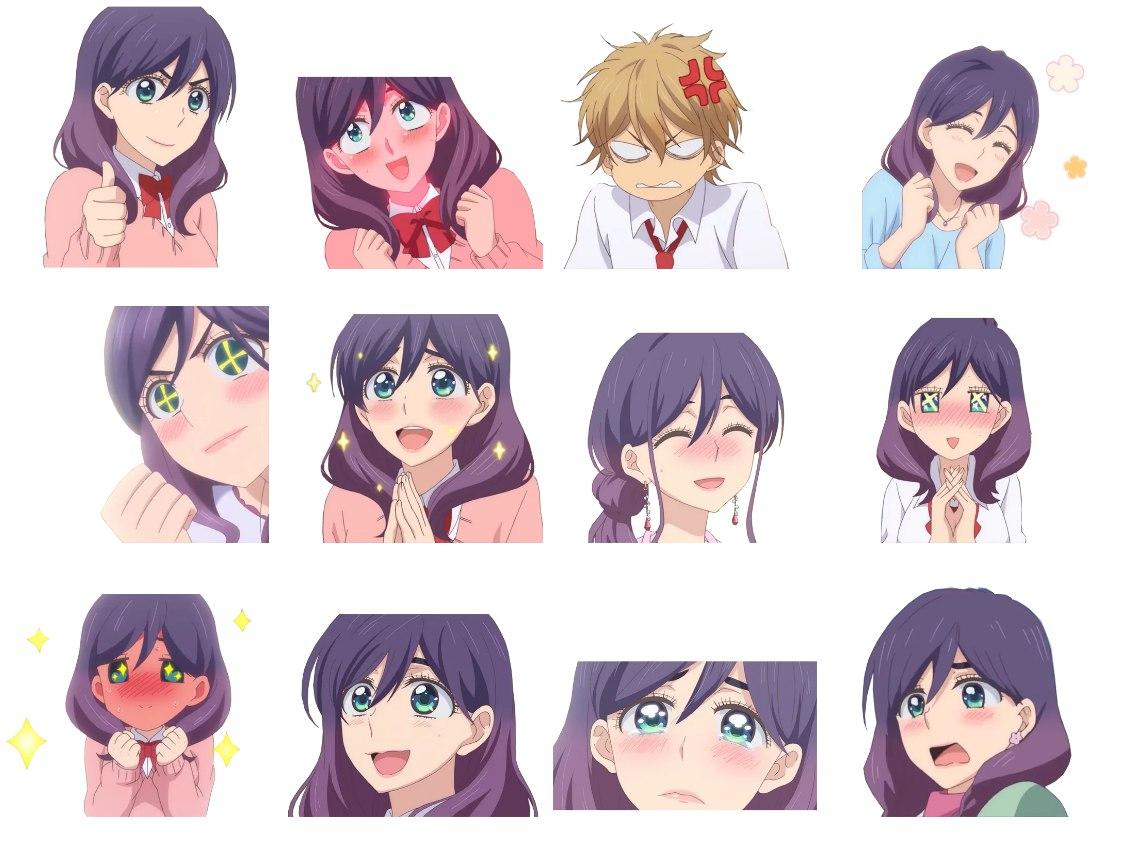 Стикеры аниме