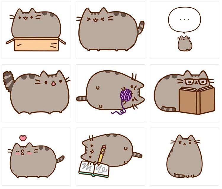 стикеры коты