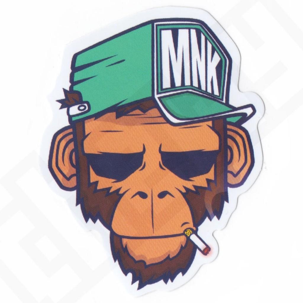 стикер обезьяна