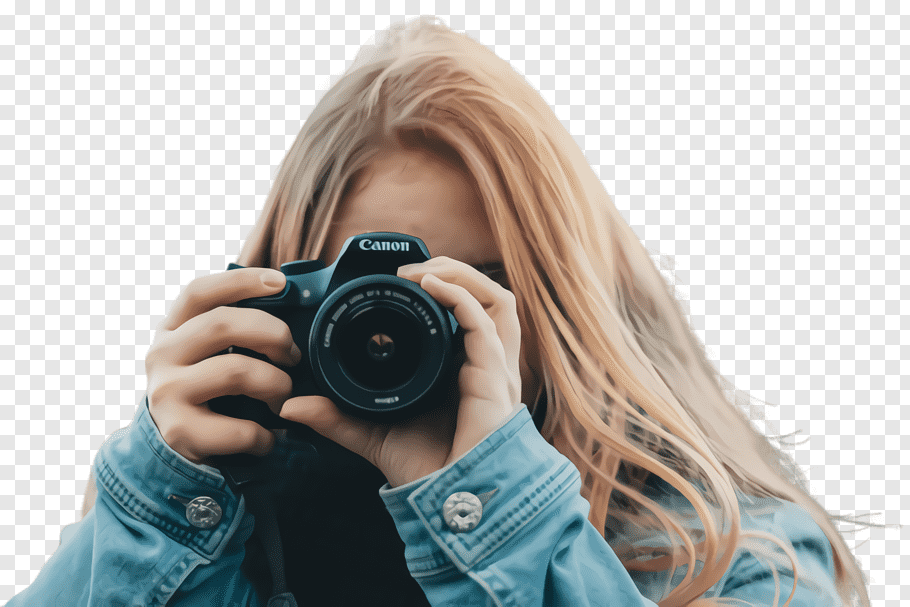 Девушка без лица с фотоаппаратом 6