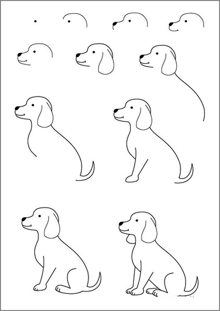 Собаку нарисовать