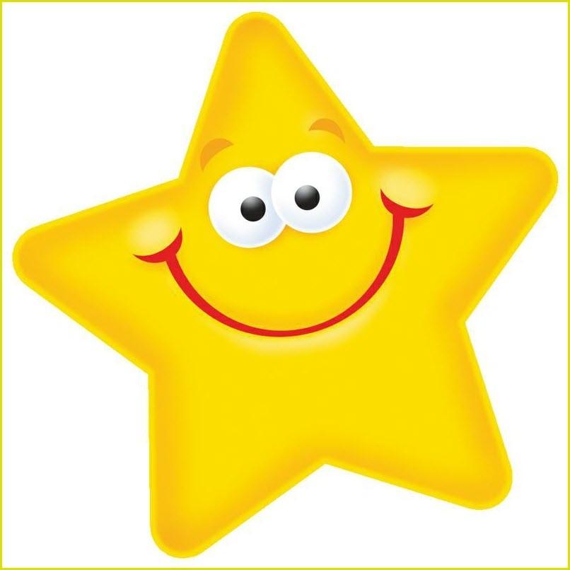 Смайлик звёздочка
