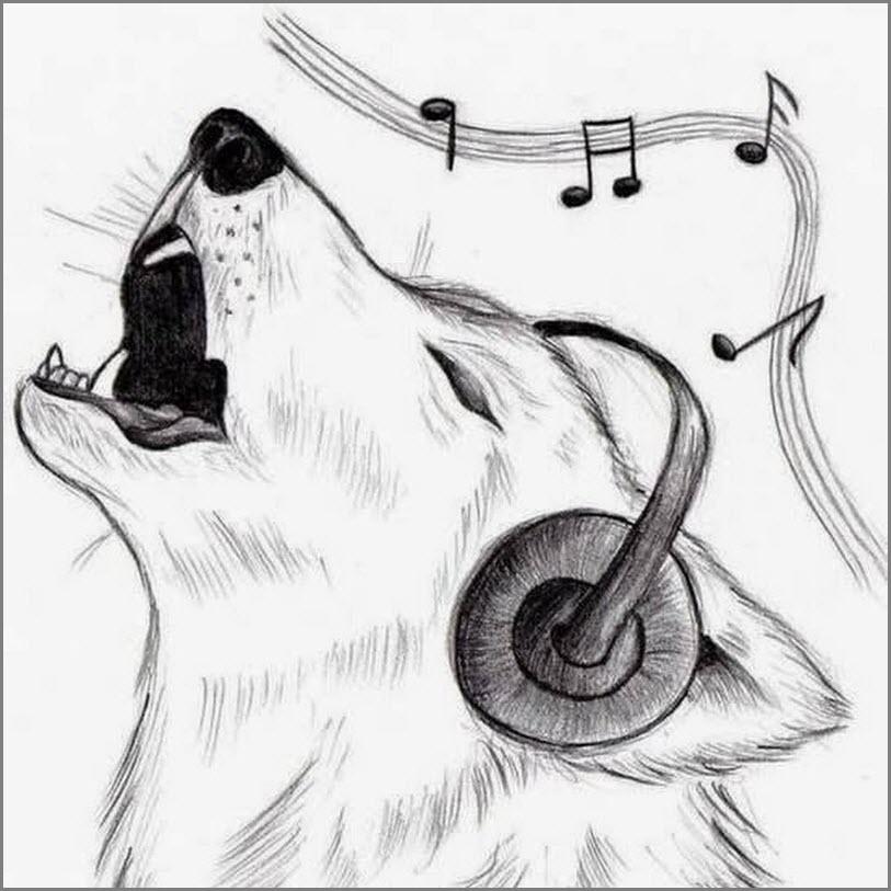 Волк срисовка