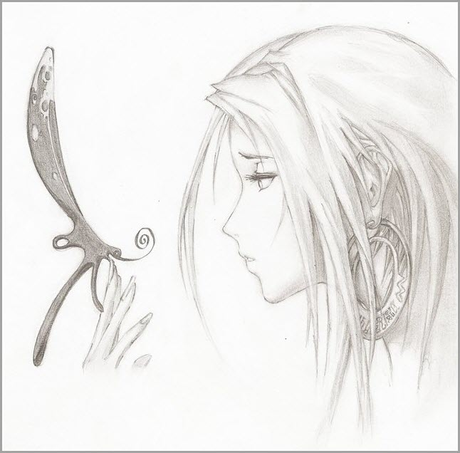 Девочка с бабочкой