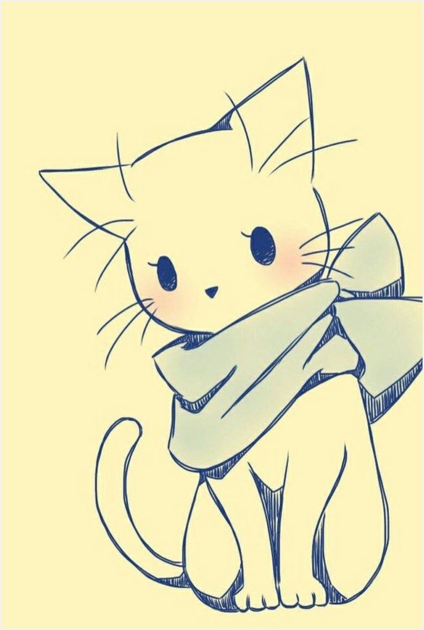 Котёнок для срисовки