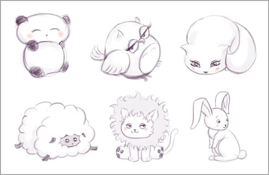 аниме арты животные