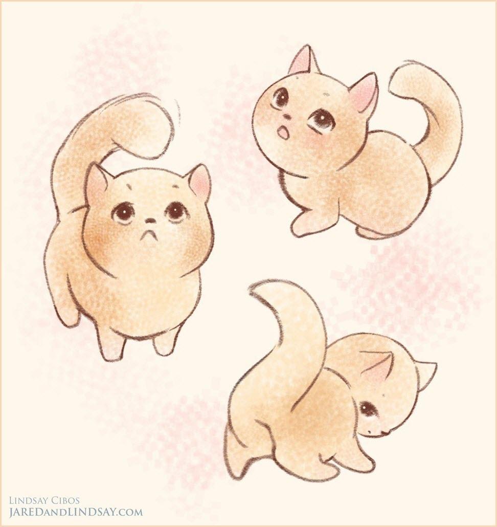 аниме арты котята