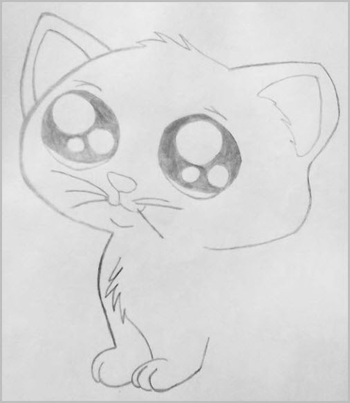 аниме арт котёнок