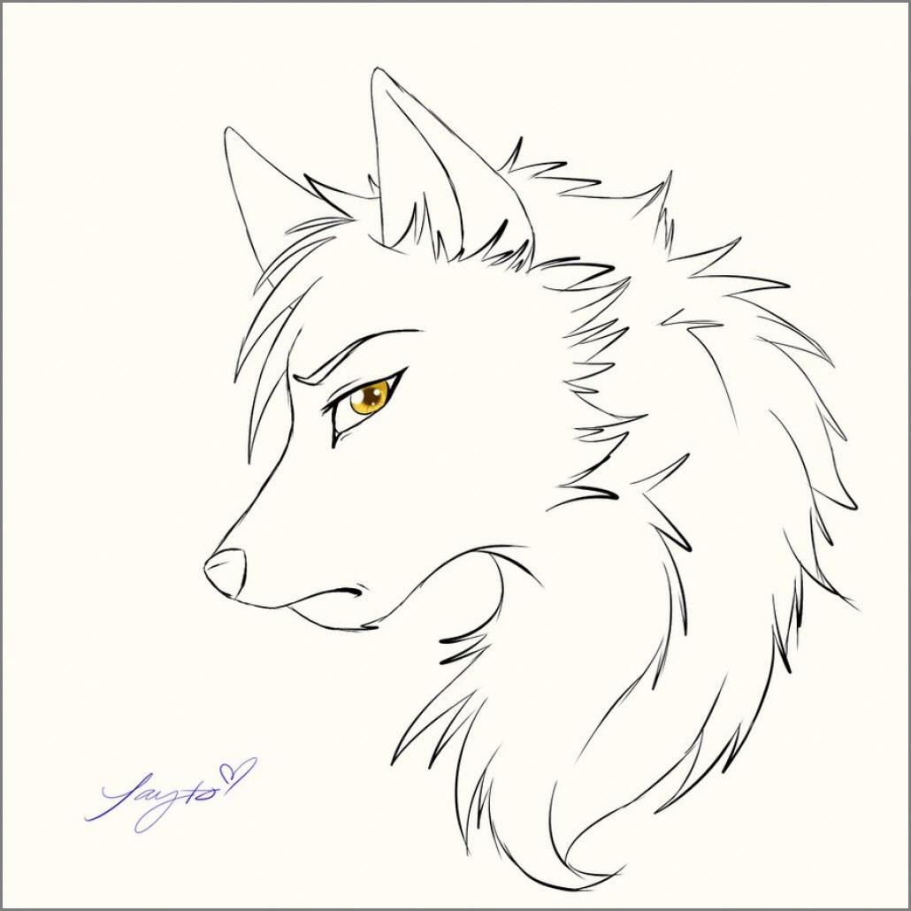 Аниме арт волк