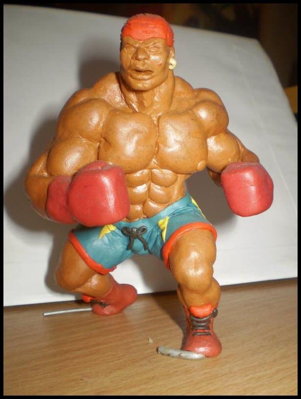 боксёр из пластилина