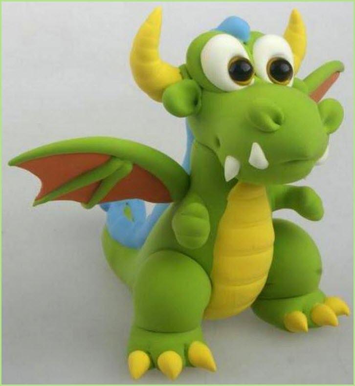 дракончик из пластилина 2