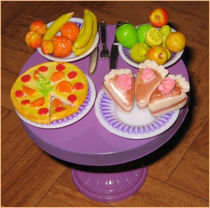 еда для Барби из пластилина