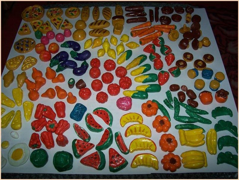 еда для кукол из пластилина 2