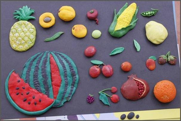 лепка фруктов
