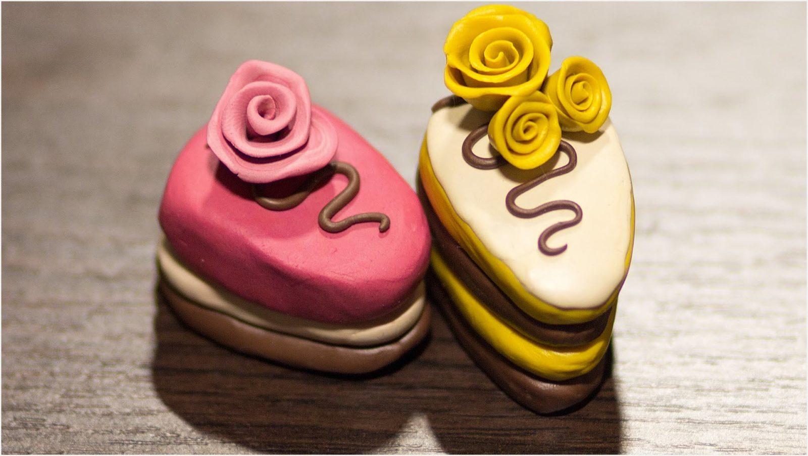 пирожные из пластилина 5