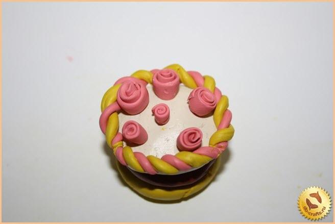 торт из пластилина 8