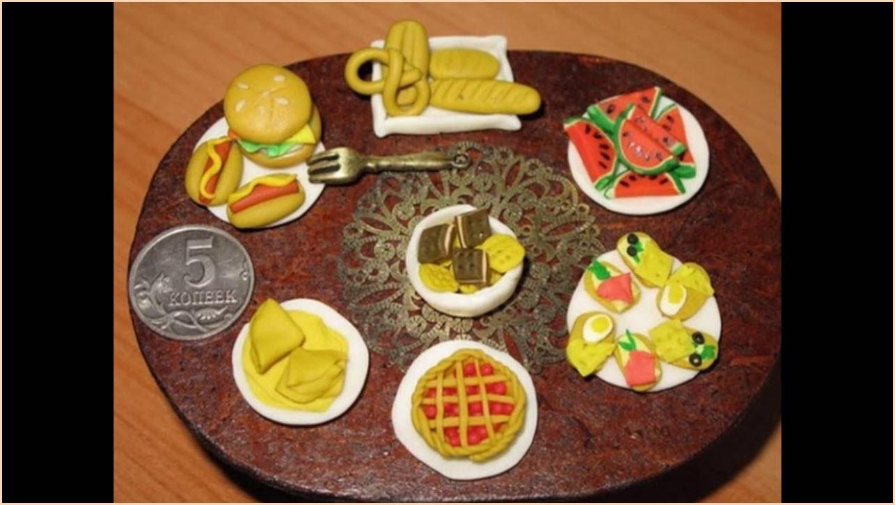 фото еды для кукол из пластилина