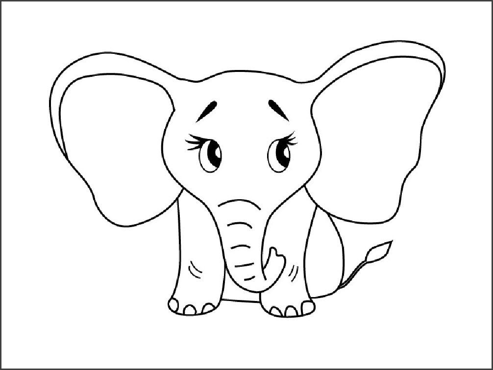 слоник рисунок карандашом