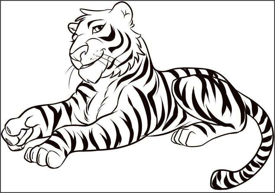 тигр срисовка