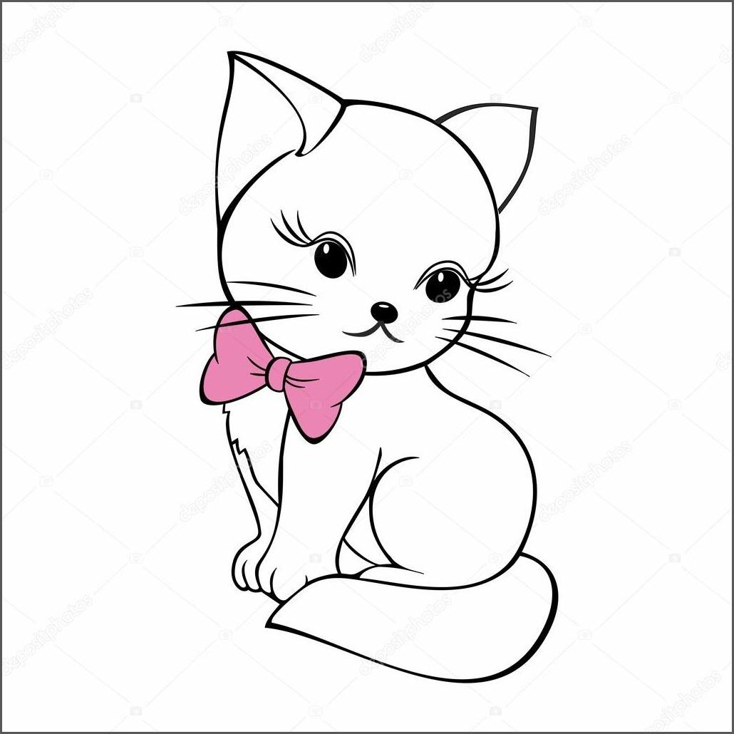 котик срисовка