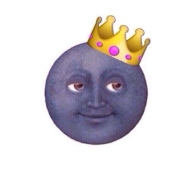 эмоджи луна